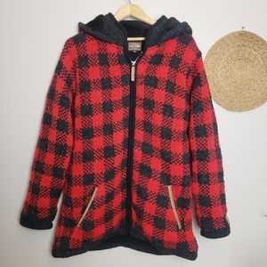 Kyber Outerwear Buffalo Check XL Wool Coat